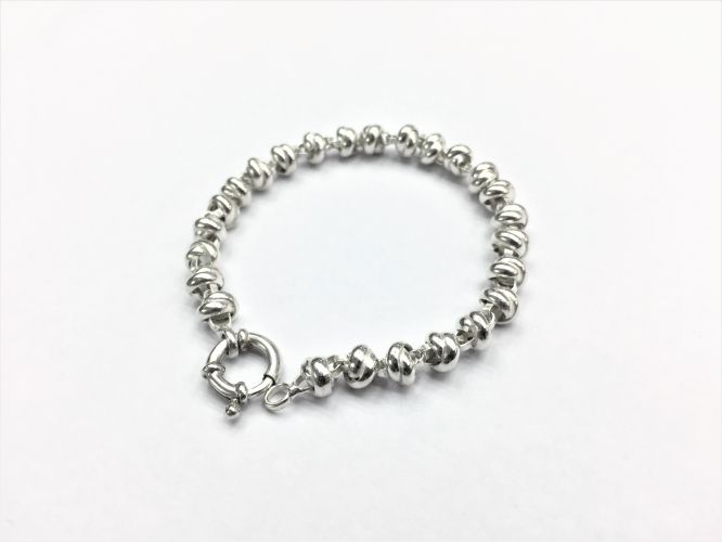 <p>Pulsera De Plata Nuditos Mini</p>